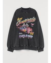 H&M Oversized Sweatshirt - Schwarz