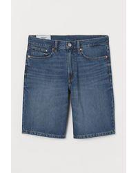 H&M Jeansshorts Regular - Blau