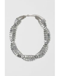 H&M Rhinestone Necklace - Metallic