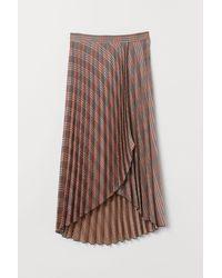 H&M Pleated Wrapover Skirt - Blue