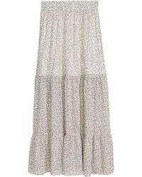 H&M Jupe maxi à motif - Blanc