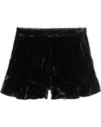 H&M Shorts aus Samt - Schwarz