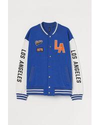 H&M Baseballjacke - Blau