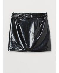 H&M A-line Skirt - Black