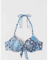 H&M Super-Push-up-Bikinitop - Blau