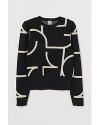 H&M Jacquard-knit Sweater - Black