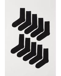 H&M Chaussettes, lot de 10 paires - Noir
