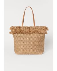 H&M Paper Straw Shopper - Orange