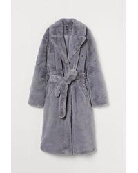 H&M Faux Fur Coat - Grey