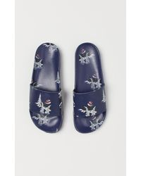 H&M Patterned Pool Shoes - Blue
