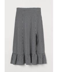 H&M Calf-length Skirt - Black