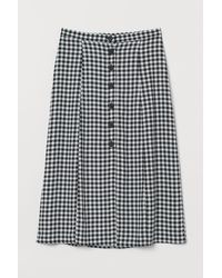 H&M Button-front Skirt - Black