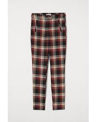 H&M Ankle-length Twill Pants - Multicolor