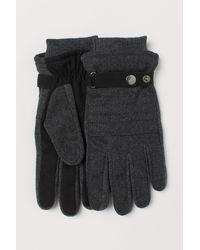 H&M Handschuhe aus Wollmix - Grau