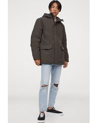 H&M Padded Hooded Jacket - Multicolor