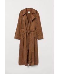 H&M - Trenchcoat aus Cupromix - Lyst