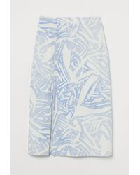 H&M Jupe en lin mélangé - Bleu