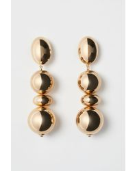 H&M Long Clip Earrings - Metallic