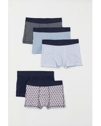 H&M 5er-Pack Kurze Trunks - Blau