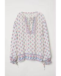 H&M - Weite Bluse - Lyst