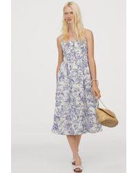 H&M - Linen-blend Dress - Lyst