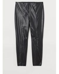 H&M H & M+ Faux Leather leggings - Black