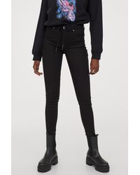 H&M - Super Skinny Regular Jeans - Lyst