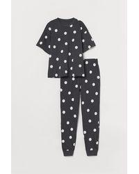 H&M Jersey-Schlafanzug - Schwarz