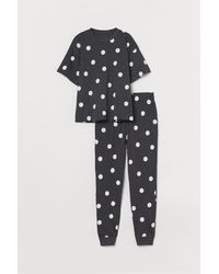 H&M Pyjama en jersey - Noir