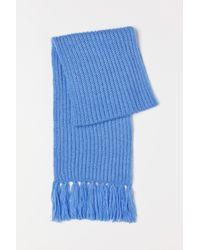 H&M Rib-knit Scarf - Blue
