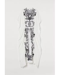 H&M Embroidered Kaftan - White