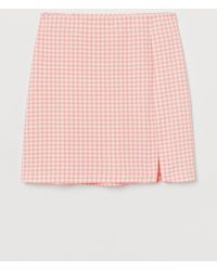 H&M Fitted Jersey Skirt - Orange