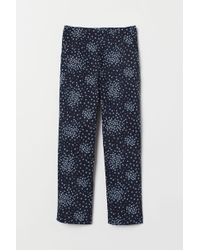 H&M Pantalon Slim Taille haute - Bleu