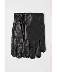 H&M Gants en cuir pour smartphone - Noir