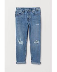 H&M Boyfriend Low Jeans - Blau