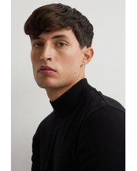 H&M Slim Fit Fine-knit Sweater - Black