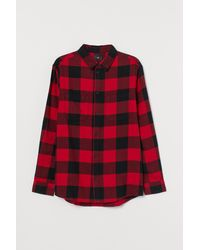 H&M Cotton Flannel Shirt - Red