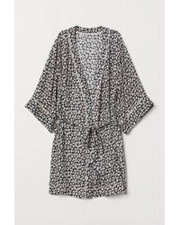 H&M - Kimono à motif - Lyst