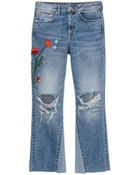 H&M Kickflare High Ankle Jeans - Bleu