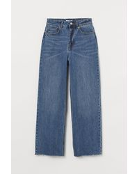H&M Wide High Ankle Jeans - Blue
