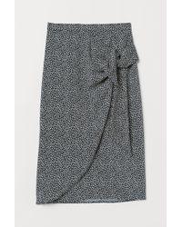 H&M Jupe portefeuille drapée - Noir