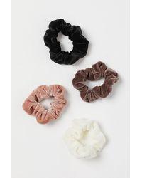H&M 4er-Pack Scrunchies - Natur