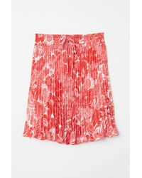 H&M - Pleated Skirt - Lyst
