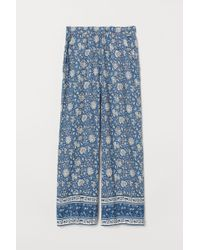 H&M Wide Pull-on Trousers - Blue