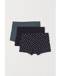 H&M 3er-Pack Kurze Trunks - Blau