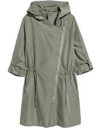 H&M Modal-blend Parka - Green