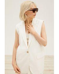 H&M Sleeveless Jacket - White