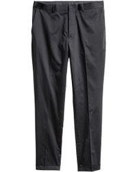 H&M Anzughose Skinny Fit - Schwarz