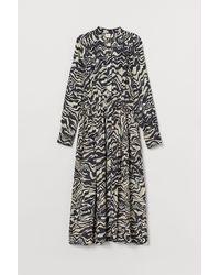 H&M Robe chemise longue - Noir