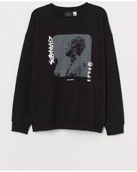H&M Sweatshirt Relaxed Fit - Schwarz